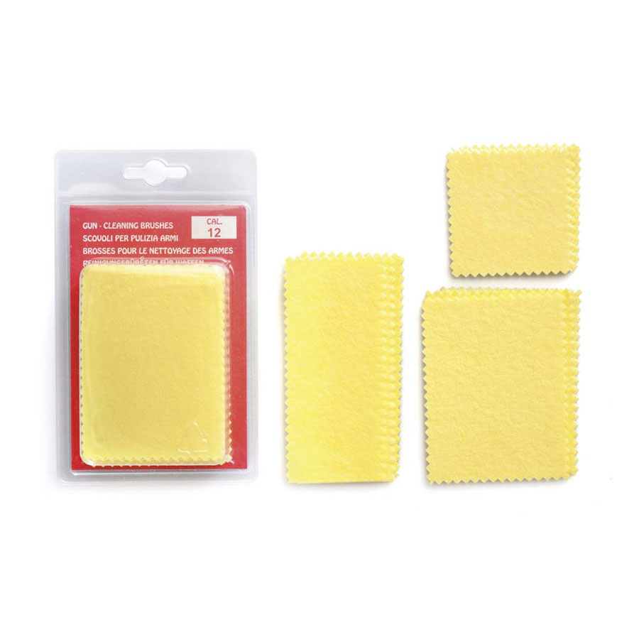 "15pcs cleaning patches cm6,5x8,5 (2,56""x3,35"") in plastic bag or blister pack More available sizes cm: 10x4,3 (3,94""x1,69"" – 5,4x5,4 (2,12""x2,12"")"